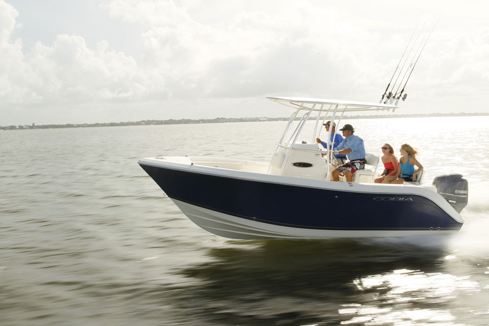 cobia 201 cc center console running