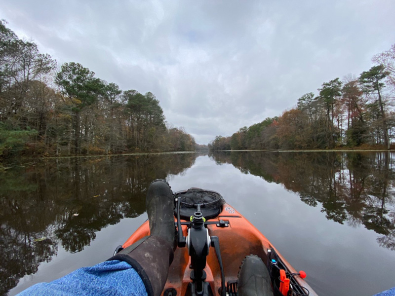 kayak fishing lake