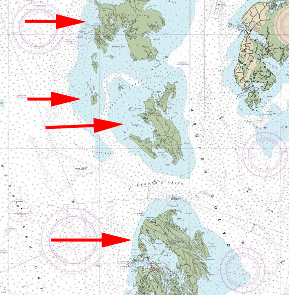 fishing chart for near tangier and smith islands