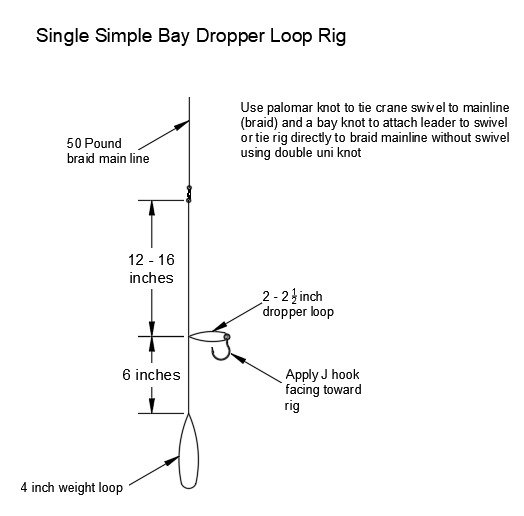 dropper loop rig for tautog