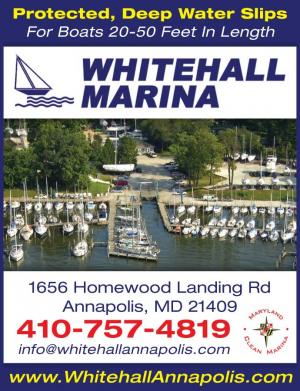 Whitehall Marina in Annapolis, Maryland has protected, deep water slips for boats 20-50 feet in length.